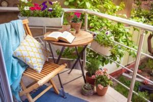 Udělejte z balkónu místo, kde můžete relaxovat
