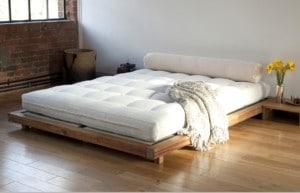 Futon, pohodlné spaní na zemi – ilustrační obrázek, zdroj