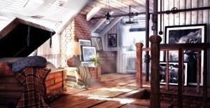 Útulný prostor v podkroví - ilustrační obrázek, zdroj