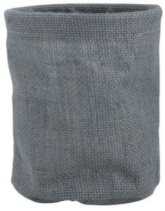 IB LAURSEN Jutový obal na květináč - šedý, šedá barva, textil