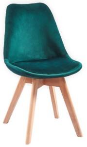 Škandinávska jedálenská stolička DIOR zamat zelená