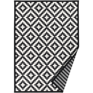 Černobílý vzorovaný oboustranný koberec Narma Viki, 70  x  140 cm