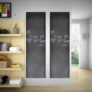 140897 vidaXL Nalepovací černá tabule na stěnu, 2 role 0,45 x m + křídy