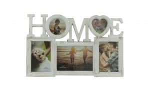 Fotorámeček na 5 fotografií Home, bílá
