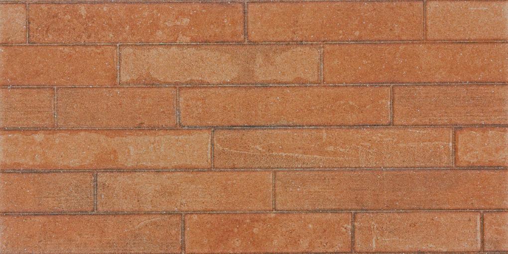 Dlažba Rako Brickstone červenohnědá 30x60 cm, mat