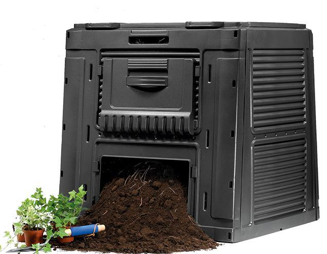 Plastový E-kompostér s podstavcem - antracit ROPL.47/23