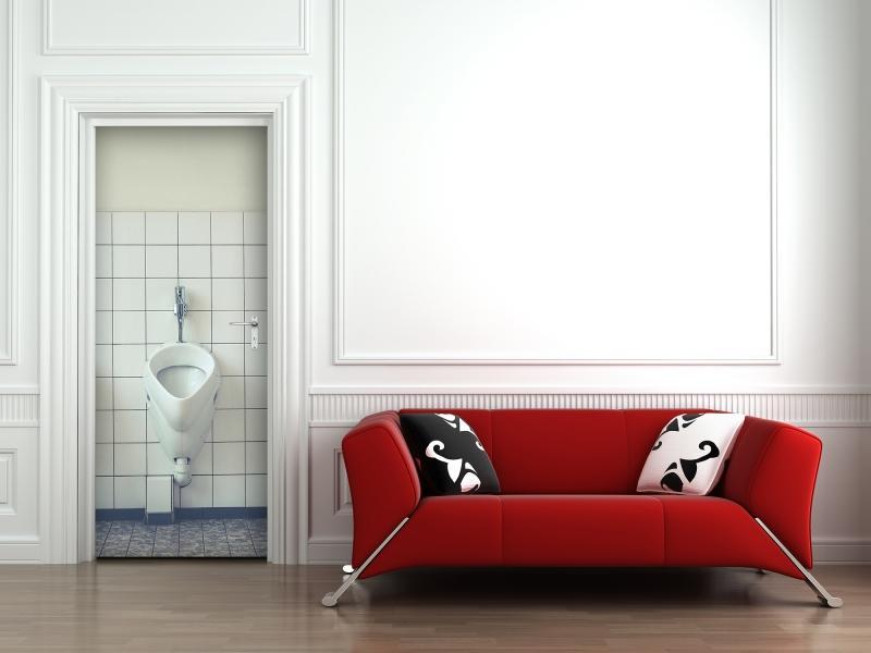 Tapeta na dveře - Pisoár (92x210 cm) - DesignExpress