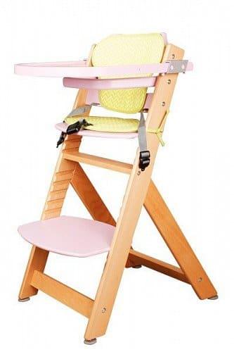BRADOP Židle dětská rostoucí přírodní/růžová – (š/v/h) 50 x 84 x 56 cm
