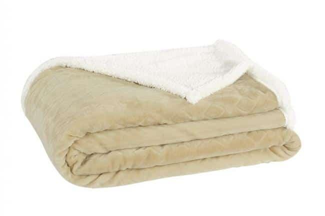 Oboustranná deka KLER béžová