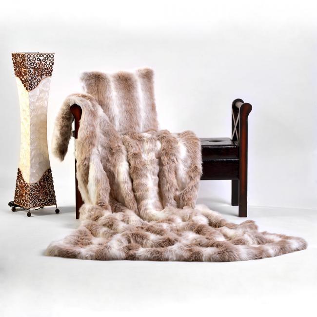 LINDART Kožešinový pléd Alaska Reindeer 140 x 200 cm