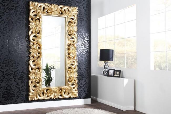 Zrcadlo Venice zlaté vintage 180cm