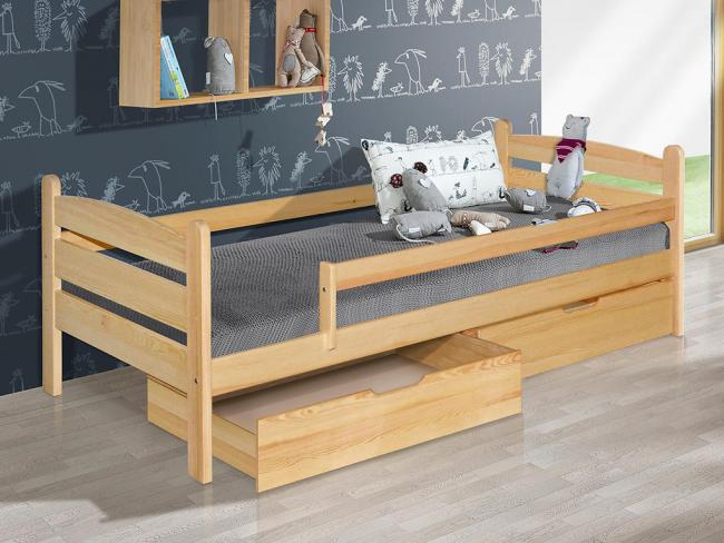 MAXMAX Dětská postel z MASIVU 200x90cm SE ŠUPLÍKY - MARY 200x90 Ano