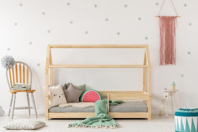 Dětská postel se zábranou Domeček Hygge 120 x 60 cm