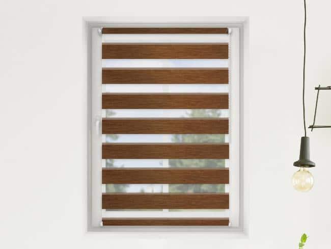 FEXI Roleta Den a noc, Oriental tmavý dub, AA 109, 150x30 cm