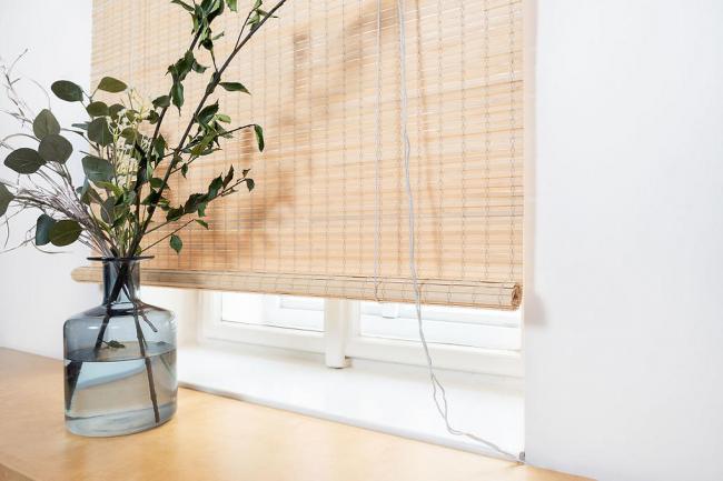Vingo Zatemňovací bambusová roleta - přírodní barva Šířka x délka: 80x200